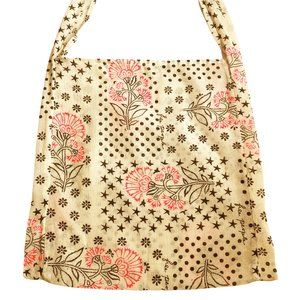 Free People Cotton Muslin Reusable Crossbody Tote Bag with Discounted Shipping